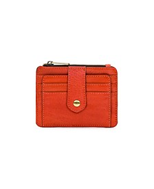 Leather Brights Cassis Card Case