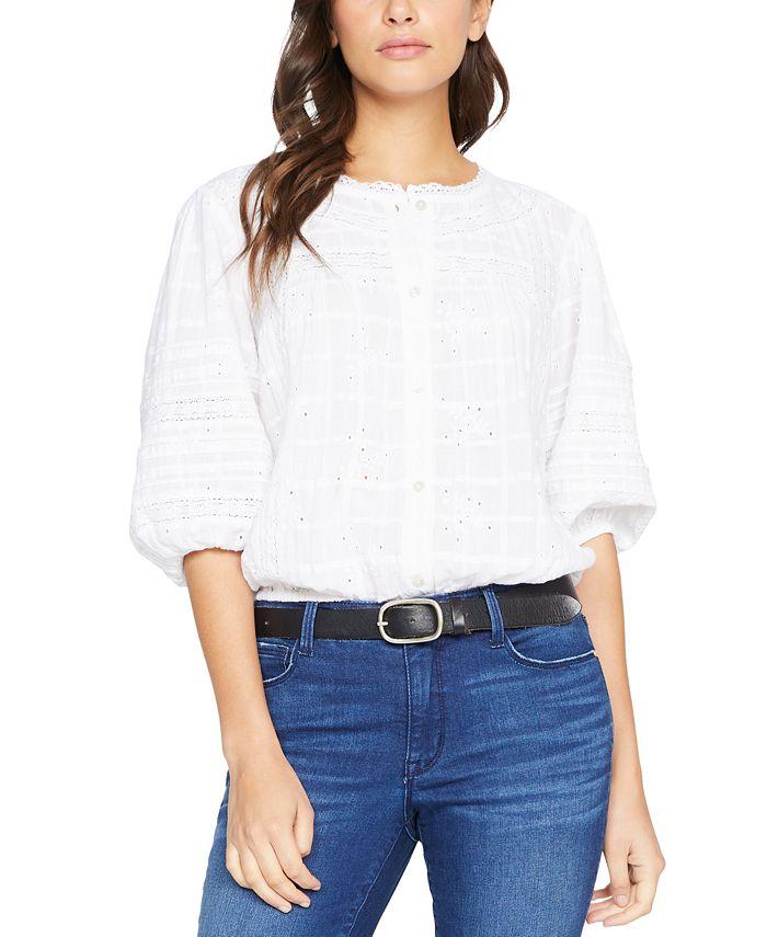 Sanctuary - Cotton Country Lane Embroidered Blouse
