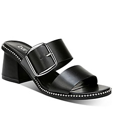 Reena Ball-Chain-Trim Block-Heel Sandals, Created for Macy's