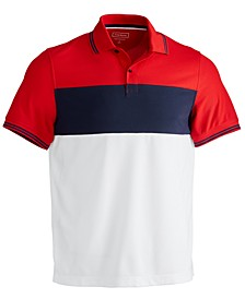 Men's Sporty Stripe Polo Shirt, Created for Macy's