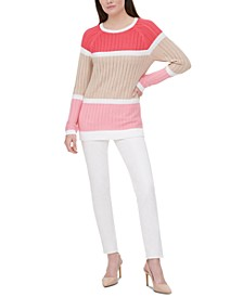 Knit Colorblocked Sweater