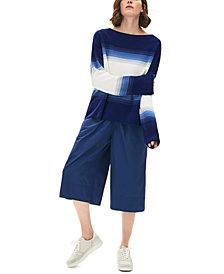Lacoste Cotton Ombré Striped Sweater