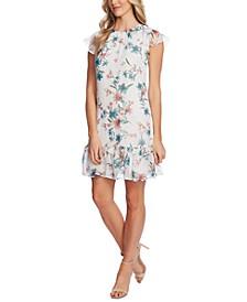 Ruffled Floral-Print Dress