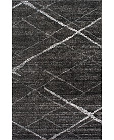 "Smoky Contemporary Thigpen Charcoal 7'6"" x 9'6"" Area Rug"
