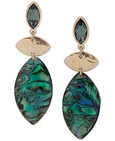 Gold-Tone & Stone Linear Drop Earrings