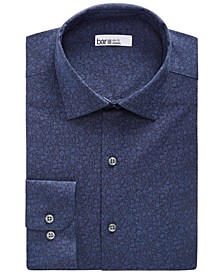 Men's Slim-Fit Performance Stretch Floral Jacquard Dress Shirt, Created for Macy's