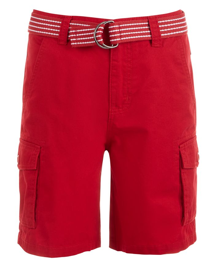 Ring of Fire - Big Boys Cargo Shorts with Removable D-Ring Belt