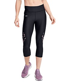 Women's HeatGear® Printed-Panel Leggings