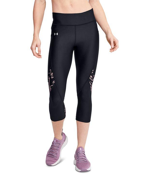 Under Armour Women's HeatGear® Printed-Panel Leggings