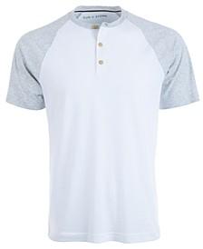 Men's Raglan Sleeve Henley, Created for Macy's