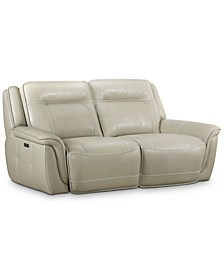 Lenardo 2-Pc. Leather Sofa with 2 Power Recliners, Created for Macy's