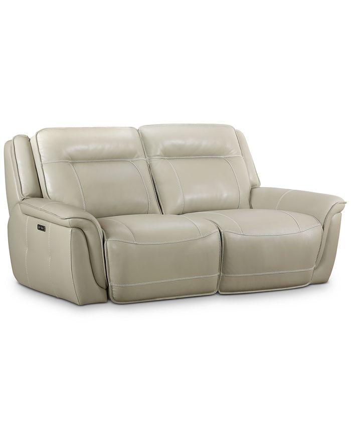 Furniture - Lenardo 2-Pc. Leather Sofa with 2 Power Recliners