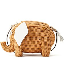 Tiny Wicker Elephant Crossbody