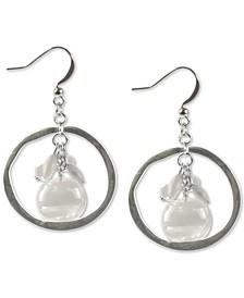 Shaky Bead Drop Hoop Earrings, Created for Macy's