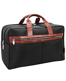 """Wellington 21"""" Two-Tone Dual-Compartment Laptop Tablet Carry-All Duffel"""