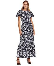 Floral Cotton A-Line Dress