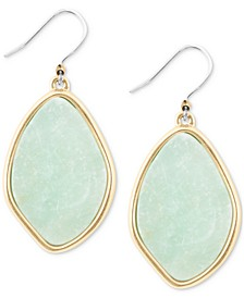 Gold-Tone Amazonite Stone Drop Earrings