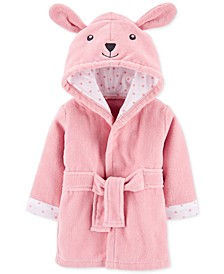 Baby Girls Hooded Cotton Bunny Bathrobe