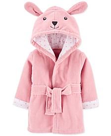Baby Girls Hooded Cotton Bunny Bathrobe