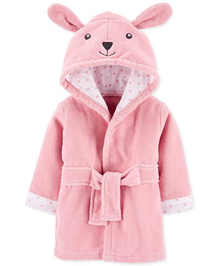 Carter's - Baby Girls Hooded Cotton Bunny Bathrobe