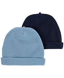 Baby Boys 2-Pk. Solid Hats