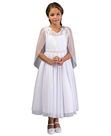Big Girl Cape Communion Dress