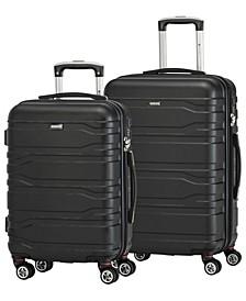 San Marino Collection Lightweight Spinner 2 Piece Luggage Set