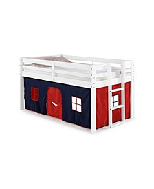 Jasper Twin Junior Loft Bed, Frame and Playhouse Tent