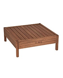 Grass Eucalyptus Wood Outdoor Square Coffee Table