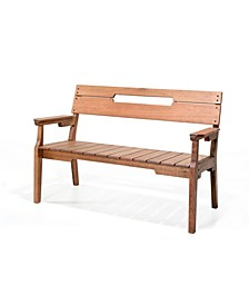 Otero Eucalyptus Wood Outdoor Seat Bench