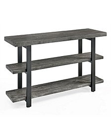 Pomona Metal and Reclaimed Wood Media Console Table