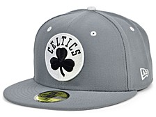 Boston Celtics Storm Black White Logo 59FIFTY Cap