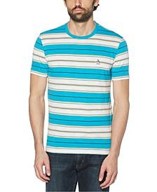 Men's Horizontal Stripe Short Sleeve T-Shirt