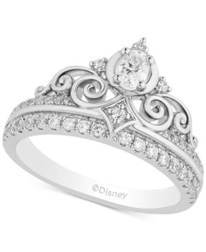 Enchanted Disney Diamond Cinderella Tiara Ring (1/2 ct. t.w.) in 14k White Gold