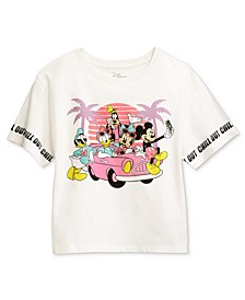 Juniors' Mickey Mouse Sunset Graphic T-Shirt
