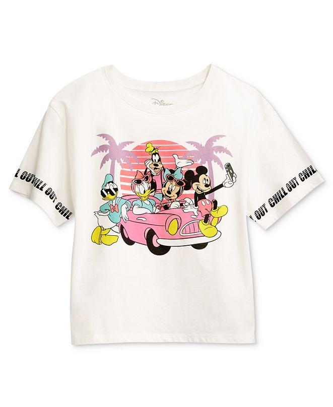 Disney Juniors' Mickey Mouse Sunset Graphic T-Shirt