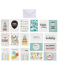 144 Happy Birthday Cards Box Set Variety Pack with Envelopes