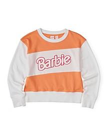 Big Girls Barbie World Crew Neck Fleece Top