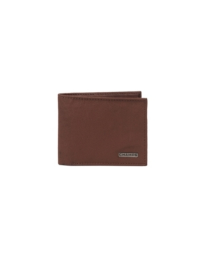 Champs Leather Rfid Center-Wing Wallet in Gift Box
