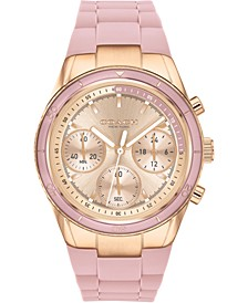 Women's Chronograph Preston Blush Silicone Strap Watch 36mm