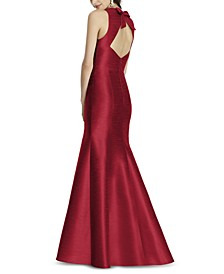 Bow-Back Trumpet Gown