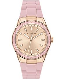 Women's Preston Blush Silicone Strap Watch 32mm