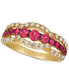 Passion Ruby (7/8 ct. t.w.) & Diamond (5/8 ct. t.w.) Ring in 14k Gold