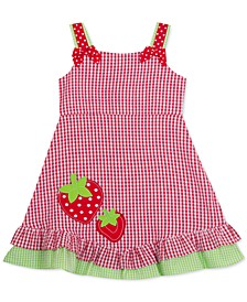 Baby Girls Strawberry Check-Print Sundress