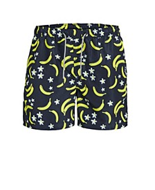 Men's  All Over Printed Recycled Swim Trunks