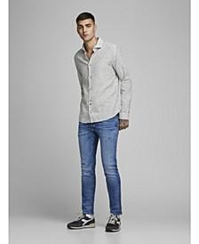 Plain Cotton Linen Blend Shirt