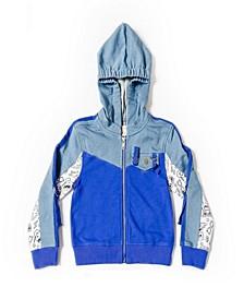 Toddler Boys Color Blocked Zip-Up Hoodie Jacket