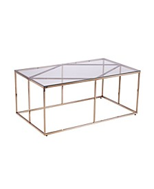 Imogen Contemporary Glass Top Cocktail Table