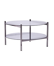 Houghton Round Cocktail Table with Glass Top