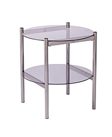 Houghton Round End Table with Glass Top